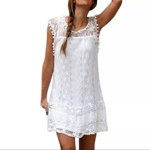 Dresses & Skirts - White Lace Summer Mini Dress Lined